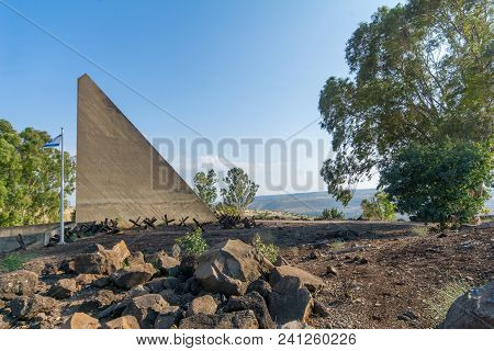 Gadot, Israel - May 14, 2018: Memorial For The Soldiers Of Alexandroni (golan) Brigade, In Gadot Loo