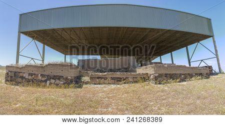 La Mata, Tartessian Aristocratic. Entrance With Tower Foundations. Extremadura, Spain