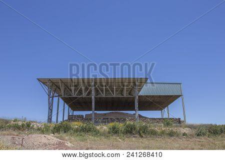 La Mata, Tartessian Aristocratic Building. Site Hill View. Extremadura, Spain