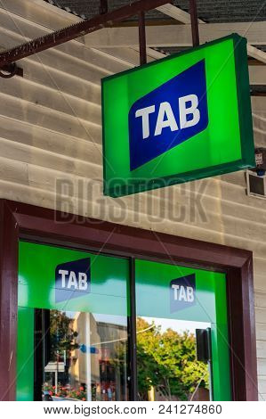 Foster, Australia - January 28, 2018: The Totalisator Agency Board, Or Tab, Is Owned By Tabcorp Hold