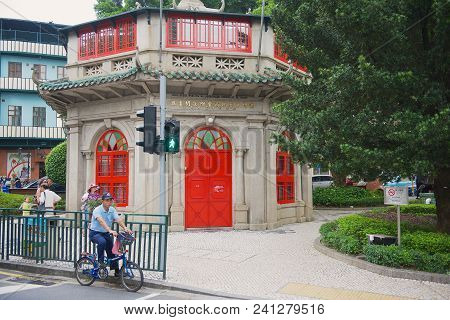 Macau, China - September 13, 2013: Exterior Of The Chinese Public Library Building In Sao Francisco