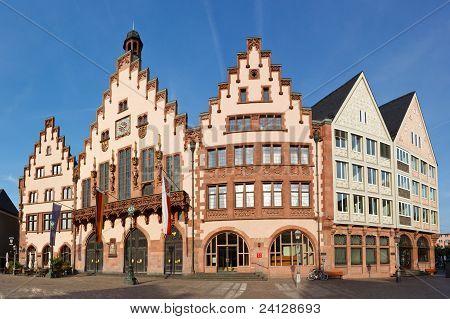 The Römer At Römerberg In Frankfurt, Germany