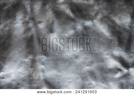 Old Iron Texture, Metal Background Deformed And Twisted