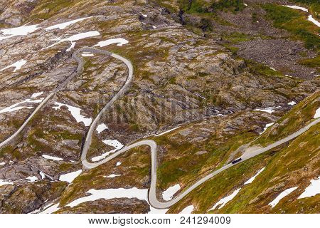 The Nibbevegen Road Up To Dalsnibba Mountain, Norway