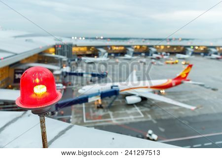 Moscow, Russia - May 18th 2018: Terminal A Of Vnukovo International Airport And Airport Building Wit