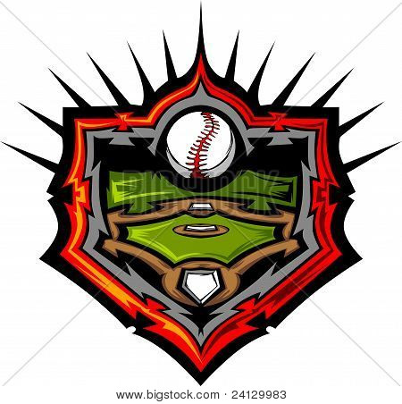 Baseball Field With Baseball