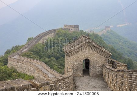 Great Wall Of China In A Morning Mist