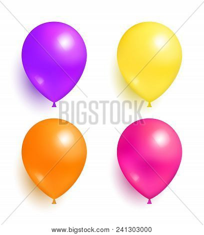 Helium Inflatable Colorful Balloons For Decorations On Birthday Wedding Corporative Parties Realisti