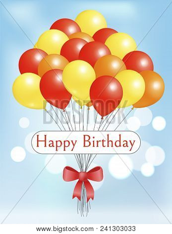 Happy Birthday Postcard Balloons Big Bundle For Party Decorations, Birthdays And Anniversaries, Ball