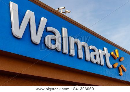 Hobart - Circa May 2018: Walmart Retail Location. Walmart Is An American Multinational Retail Corpor