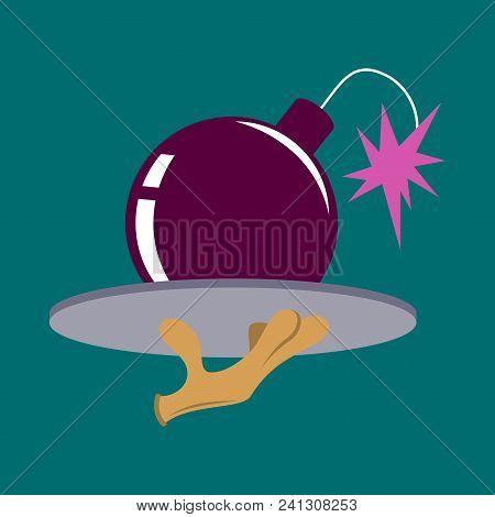 Flat Icon On Theme Humor Bomb Flat Icon On Theme Humor Bomb