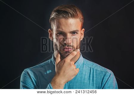 Businessman Thinking About Something. Generating Fresh Ideas - Smart Pensive Man In Casual Clothing