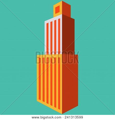 Skyscraper Icon. Flat Illustration Of Skyscraper Vector Icon Logo Isolated On Background
