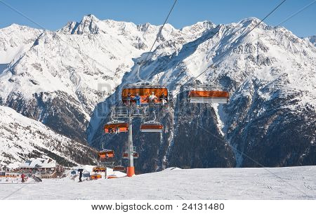 Chair Ski Lift. Solden. Austria