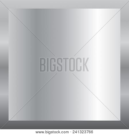 Silver Gradient Background. Silver Design Texture For Ribbon, Frame, Banner. Abstract Silver Gradien