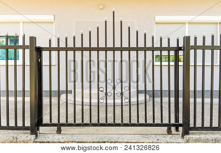 Black Iron Fence Gate, Black Metal Fence Gate