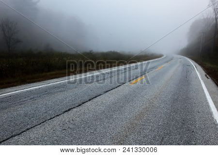 Fogy road early morning
