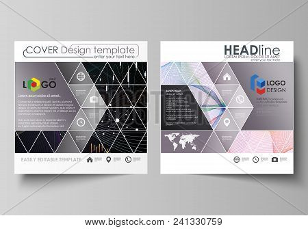 Business Templates For Square Design Brochure, Magazine, Flyer, Booklet Or Annual Report. Leaflet Co