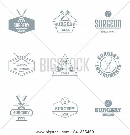 Operating Theatre Logo Set. Simple Set Of 9 Operating Theatre Vector Logo For Web Isolated On White