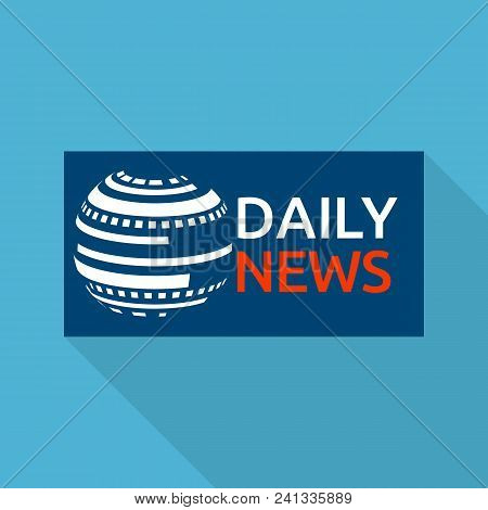 Global Daily News Logo. Flat Illustration Of Global Daily News Vector Logo For Web Design