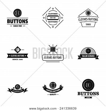 Dressy Logo Set. Simple Set Of 9 Dressy Vector Logo For Web Isolated On White Background
