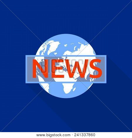 All Country News Logo. Flat Illustration Of All Country News Vector Logo For Web Design