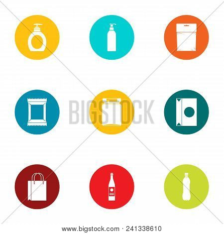 Wrapper Icons Set. Flat Set Of 9 Wrapper Vector Icons For Web Isolated On White Background