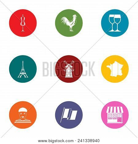 Love Trip Icons Set. Flat Set Of 9 Love Trip Vector Icons For Web Isolated On White Background