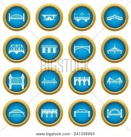 Bridge Icons Set. Simple Illustration Of 16 Bridge Icons Set Vector Icons For Web