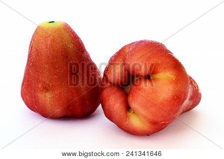 Isolated Of Fresh Syzygium Aqueum Or Rose Apple