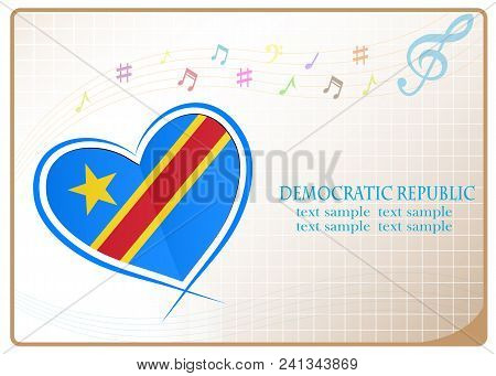 Heart Logo Made From The Flag Of Democratic Republic
