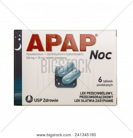 Swindon, Uk - May 19, 2018: Packet Of Apap Night Is An Analgesic And Antipyretic, Which Combines The