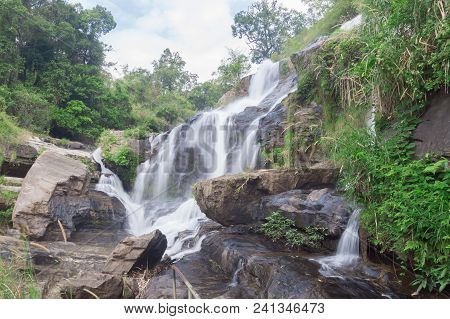 Mae Klang Waterfall, The Popular Place In Chiang Mai , Thailand