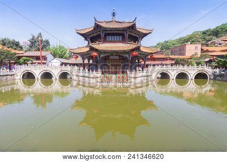 Yuantong Kunming Temple In Sunny Day, Kunming Capital City Of Yunnan, China