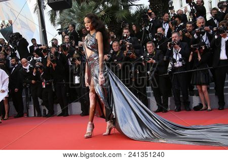 Winnie Harlow  attend the screening of 'Solo: A Star Wars Story' during the 71st Cannes Film Festival at Palais des Festivals on May 15, 2018 in Cannes, France.