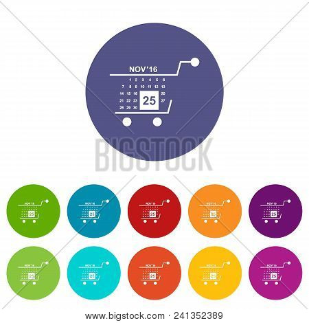 Basket Calendar Twenty Fifth Of November Icon. Simple Illustration Of Basket Calendar Twenty Fifth O