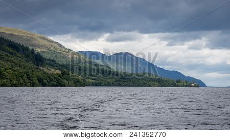 The Famous Loch Ness On A Bright Sunny Day, Inverness, Scotland, United Kingdom