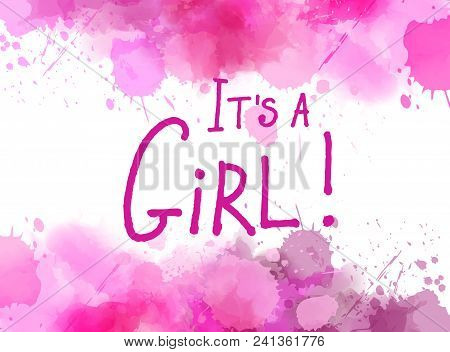 It's A Girl Watercolor Background