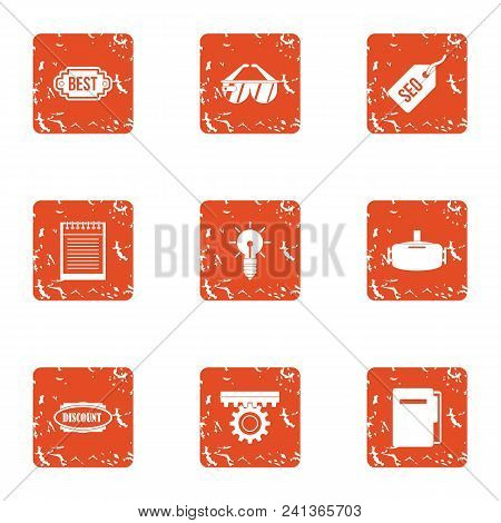 Better Property Icons Set. Grunge Set Of 9 Better Property Vector Icons For Web Isolated On White Ba