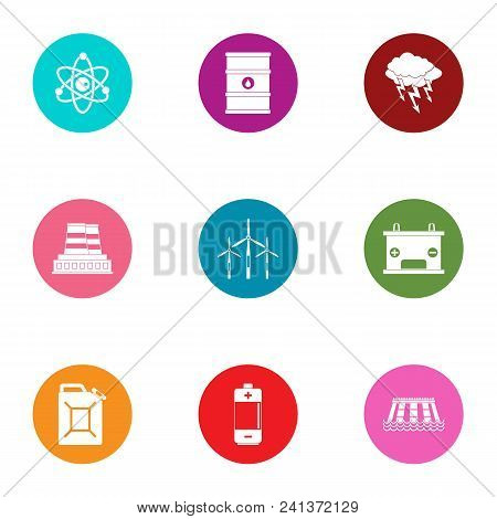 Hazardous Environment Icons Set. Flat Set Of 9 Hazardous Environment Vector Icons For Web Isolated O