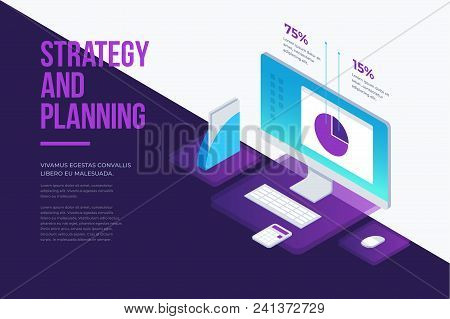 Concept For Management And Business Strategy. Analysis Data And Investment. Business Success. Modern