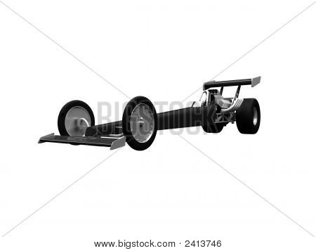 Dragster Isolated Front View 02