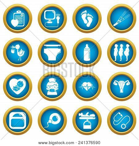 Pregnancy Icons Set. Simple Illustration Of 16 Pregnancy Vector Icons For Web