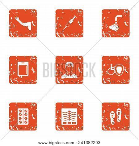Pilule Icons Set. Grunge Set Of 9 Pilule Vector Icons For Web Isolated On White Background