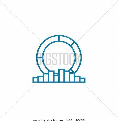 Analytical Data Line Icon, Vector Illustration. Analytical Data Linear Concept Sign.