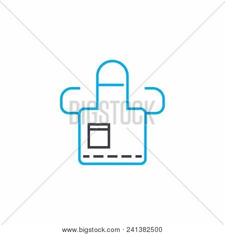 Apron Line Icon, Vector Illustration. Apron Linear Concept Sign.