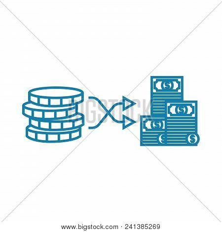 Building Capital Line Icon, Vector Illustration. Building Capital Linear Concept Sign.