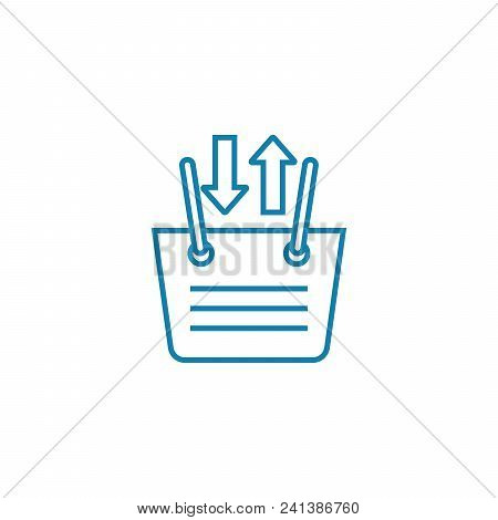 Buying Decision Line Icon, Vector Illustration. Buying Decision Linear Concept Sign.