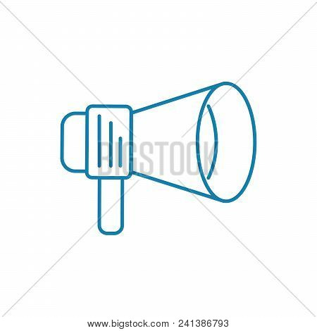 Call To Action Line Icon, Vector Illustration. Call To Action Linear Concept Sign.