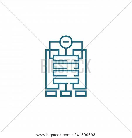 Company Structure Line Icon, Vector Illustration. Company Structure Linear Concept Sign.